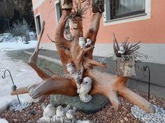 Driftwood, Reindeer, Lion Sculpture, Statue, Coffee Tables, Glass, Handmade, Art, Kunst