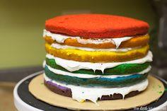 The Little Kitchen Rainbow Birthday Cake - The Little Kitchen Girl 2nd Birthday, 2 Birthday Cake, Rainbow Birthday, Purple Cakes, Red Cake, Mermaid Princess, Princess Peach, Rainbow Layer Cakes, Peach Party