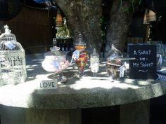 Outdoor bar at a Waiheke accommodation and wedding venue.