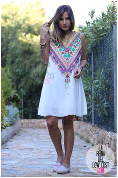 La Reina del Low Cost | tu blog de moda real. Ethnic dress+espadrilles. Summer outfit 2016