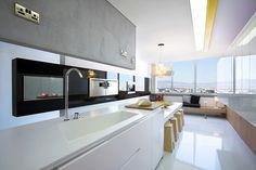 Bright Contemporary Interiors of Split Level Apartment in Cyprus | Home Design Lover