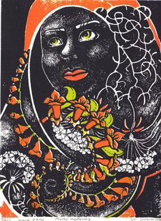 Serigrafia silk screen print Black Madonna by Satu Laaninen 2016 Silk Screen Printing, My Works, Madonna, Black, Screen Printing Press, Screen Printing, Black People