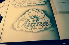 Our sister tattoo could say Ohana? (: