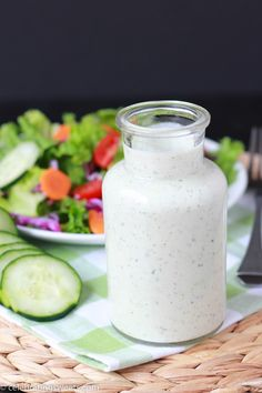 Creamy Cucumber Herb Dressing ~ Celebrating Sweets