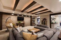basement interior design - June 09 2019 at Basement Guest Rooms, Cozy Basement, Rustic Basement, Basement Ideas, Basement Kitchen, Modern Basement, Basement Finishing, Basement Remodel Diy, Basement Remodeling