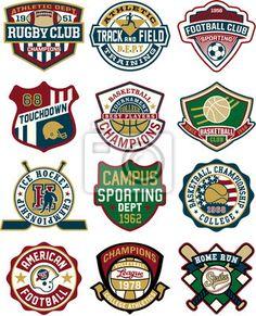 Fotomural Colección Vintage de deporte insignias