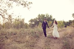 #wedding...pic taken in his grandma's field, where we used to go kiss! (: