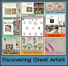 Discovering Great Artists- Simple art activities to teach children about eight great artists!