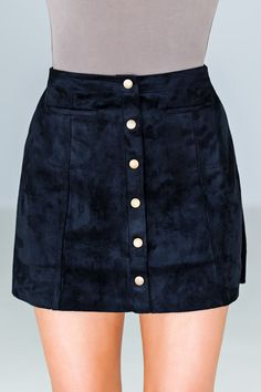Thrill Of The Chase Suede Skirt - Black - Anjouil's Boutique
