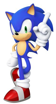 Sonic the Hedgehog's pose