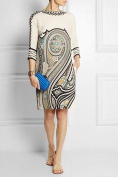 Etro|Paisley-print silk mini dress|NET-A-PORTER.COM