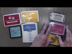 Getting Started with Inks: Pigment or Dye? - YouTube. Also shows some nice cards Darlene made using pigment inks.