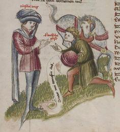 Thomasin <Circlaere>   Welscher Gast (a) Schwaben, um 1460-1470 Cod. Pal. germ. 320 Folio 7v