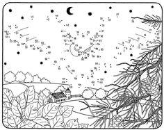 Ausmalbild Malen nach Zahlen: Malen nach Zahlen: Fliegende Eule kostenlos ausdrucken