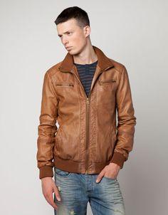 Bershka United Kingdom - Imitation leather biker jacket