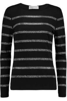 MICHAEL Michael Kors Studded cotton and modal-blend jersey top | THE OUTNET