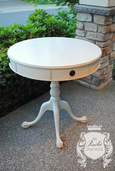 Beautiful White Side Table | Design Ideas For Finishing Furniture, Cabinets & Floors