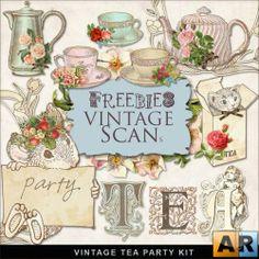 "Скрап набор ""Vintage Tea Party"""