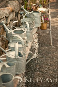 Vintage watering cans-Railroad Towne Antique Mall, 319 W 3rd St, Grand Island, NE, 308-398-2222
