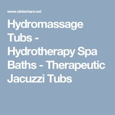 Schmidt Exclusive Design build hydromassage tubs manufacturers some of the industries healthiest most therapeutic jacuzzi tubs including free standing jetted b… Spa Baths, Jacuzzi Tub, Tubs, Bathtubs, Jacuzzi, Soaking Tubs