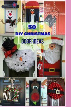 Creative, unique & cute Christmas door ideas. Best for classrooms & kids' rooms.