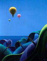 Les mongolfières - Tableaux de Claude Théberge
