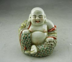Ancient Chinese Antique Painted Porcelain Buddha   eBay