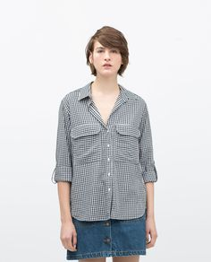 Image 1 of CHECKED SHIRT WITH POCKETS from Zara