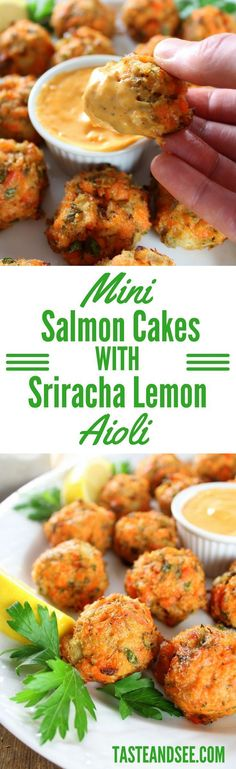Mini Salmon Cakes wi