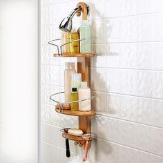 Very handsome. Bamboo Shower Caddy | dotandbo.com  #DotandBoDream