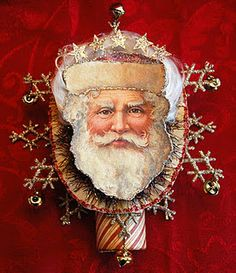 How to create a vintage Santa tree topper.