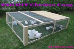 Super easy DIY Chicken Coop ..... I might make it taller with a slanted tin roof for the rain to run off, and add some nesting boxes.