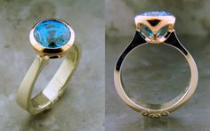A William Travis Jewelry original. This piece features a round brilliant blue zircon that shows off the beauty of the stone. See more at williamtravisjewelry.com