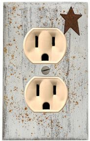 Fair-minded rated french country home decor Hurry! cheap this week Barn Wood Crafts, Rustic Crafts, Primitive Crafts, Country Primitive, Switch Plate Covers, Light Switch Covers, Switch Plates, Country Furniture, Country Decor