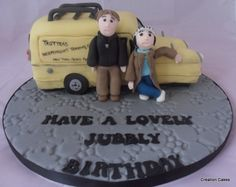 Only Fools & Horses Trotter Van cake and handmade characters! www.creationcakes.org.uk First Communion Cakes, Only Fools And Horses, Dad Birthday Cakes, Paris Cakes, Horse Cake, Harry Potter Cake, Book Cakes, Cake Photography, Character Cakes