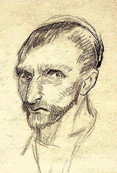 Vincent van Gogh, self-portrait Pencil 19.0 x 21.0 cm. Paris- January-June, 1887 F 1379, JH 1196 Amsterdam- Van Gogh Museum.