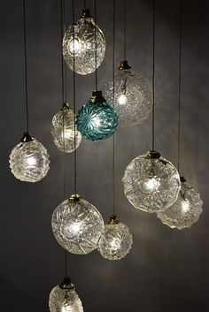 Pin by dy d on lanterns etc pinterest glass lights jellyfish hand blown glass pendant lights by the talented randy zieber imagine a cluster of 100 mozeypictures Image collections