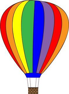 Colorful Hot Air Balloon from pixabay. Cow Clipart, Free Clipart Images, Transportation Preschool Activities, Craft Activities For Kids, Hot Air Balloon Clipart, Project Life Freebies, Balloon Illustration, Air Ballon, Balloon Animals