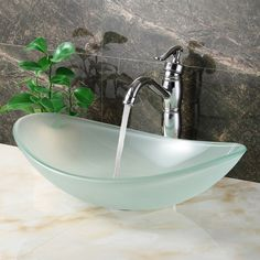Youu0027ll Love The Double Layered Tempered Glass Boat Shaped Bowl Vessel  Bathroom Sink At