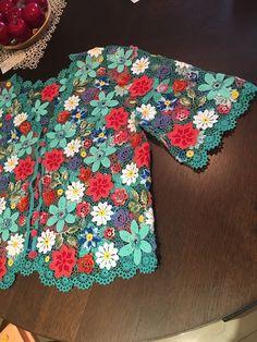 Жакет цветочный -2 - купить или заказать в интернет-магазине на Ярмарке Мастеров - F9Y0BRU | Жакет в стиле ирландского кружева из итальянского…