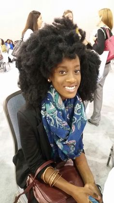 """beautywithinthedarkskin: """"Philadelphia Womens Conference. My hair IS professional, people!!! """""""