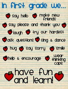 A fun poster to remind kids (and us!) what we do in our classroom. I can edit to say any grade or phrase you want. Just email me and I'll create i...