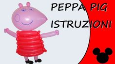 Video tutorial on how to make Peppa Pig with balloons twisting #peppapig