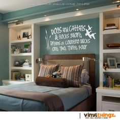 "VinylThingz | 17"" x 39"" Wall Decals Nursery Hunting Fishing Ducks ..."