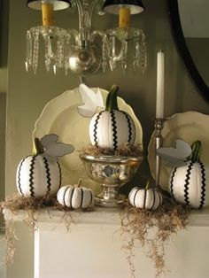 This would be pretty easy.  Did this one year with black ribbon with white polka dots on orange pumpkins.