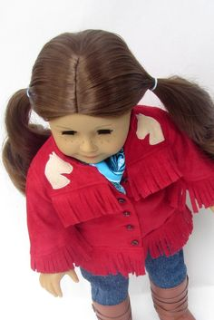 American Girl Doll Saige's Red Riding Jacket by Minipparel on Etsy