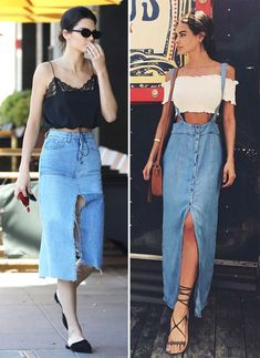 Джинсовые юбки #denim #denimskirt #musthave #cropped #summerstyle #summer2018