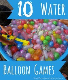 So fun! Pin this for the next birthday party: 10 Water Balloon Games (For Kids, Teens and Youth Groups)