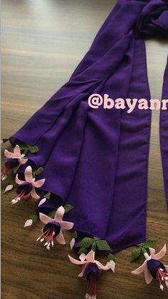 Dupattas Crochet Shawl, Crochet Lace, Saree Tassels Designs, Hair Cover, Piercings, Needle Lace, Moda Emo, Neck Scarves, Floral Fabric