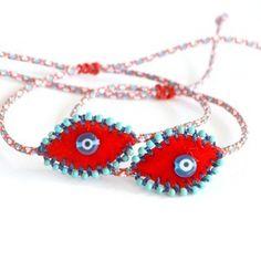 Fabric Bracelets, Macrame Knots, Rakhi, Evil Eye, Textile Art, Friendship Bracelets, Crochet Earrings, Fancy, Jewels